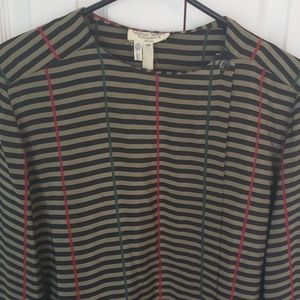 Giorgio Armani vintage 80s silk striped blouse
